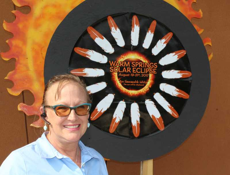 HOLLY M. GILL - Belinda Chavez, marketing director for Indian Head Casino, is making plans for the tribes' solar eclipse events.
