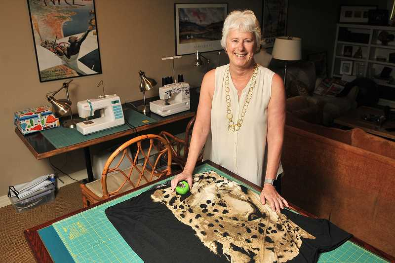 Joan Robbins spent the last eight months designing a line of womens clothing under the line Alton Oak. She will present her Out of Africa line at the Fade to Light Fashion Show on Aug. 23.