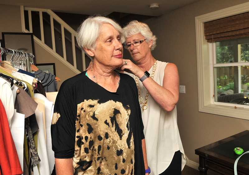 Marti Anderson, Joan Robbins sister, will be one of the models wearing Alton Oak fashions during Fade to Light Fashion Show.