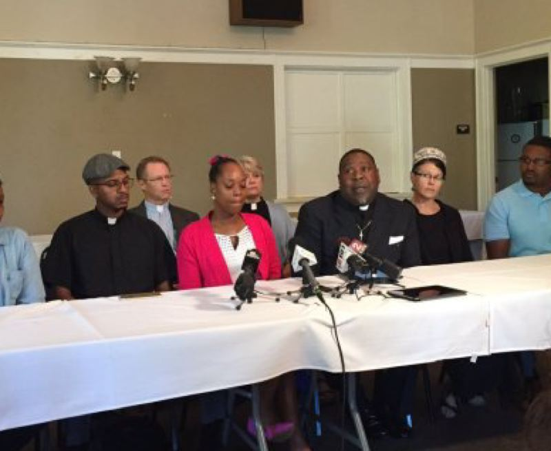 KOIN 6 NEWS - Demetria Hester (center) at Friday's press conference.