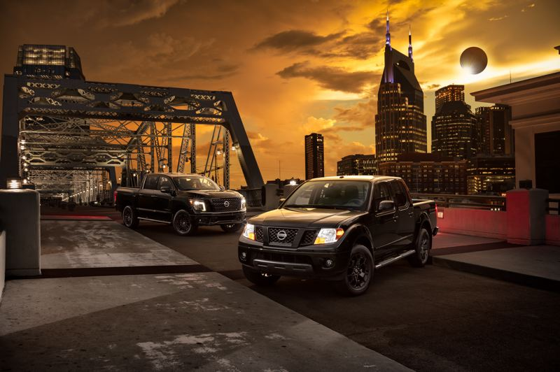 COURTESY NISSAN - Nissan unveiled its special edition Frontier and Titan in Nashville, Tennessee, near the company's North American headquarters. Nashville was in the path of totality for the Aug. 21 eclipse.