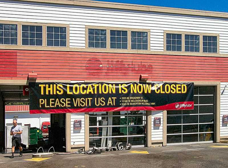 RITA A. LEONARD - The Jiffylube business on S.E. Powell Boulevard at 41st has closed - to make way for Oilcan Henrys.