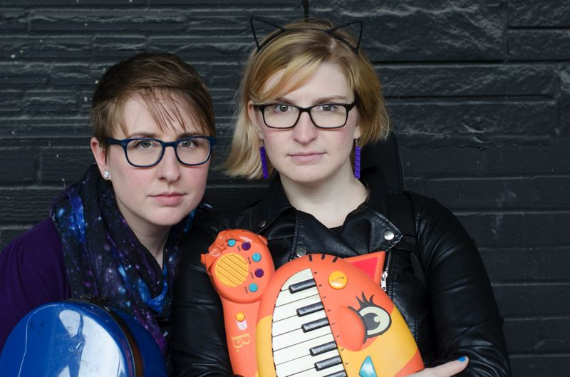 COURTESY PHOTO: THE DOUBLECLICKS - Sisters Aubrey Turner and Angela Webber have found a solid following for their folky-nerdy-wacky duo on the internet.