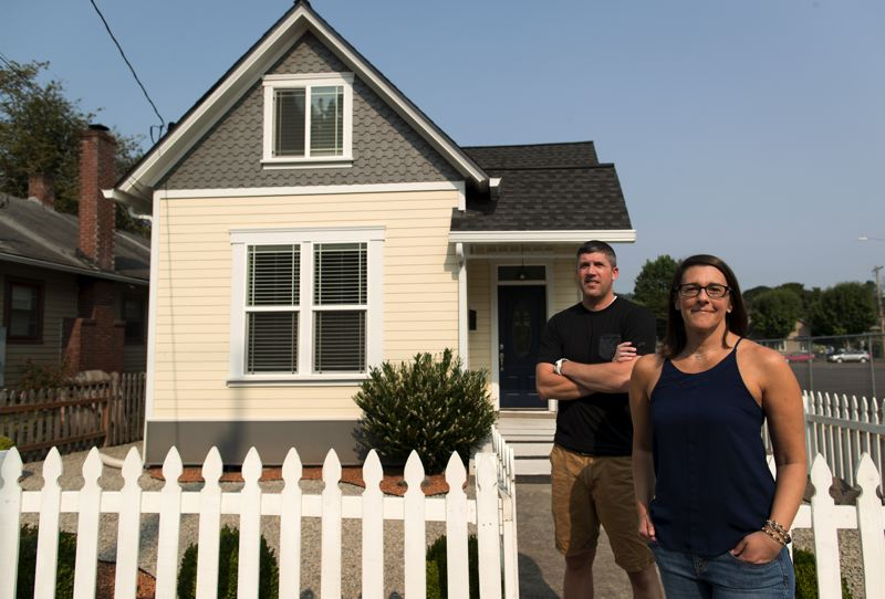 PORTLAND TRIBUNE: JAIME VALDEZ - Kari and Michael Petersen and their son Jack (not pictured) downsized into a modest Oregon City Home to save money in 2014, only to get hit with a $3,000 bill for back property taxes earlier this year.