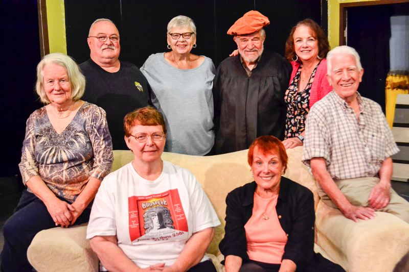 POST PHOTO: BRITTANY ALLEN - Front row: Lexy Dillion, Jonica Tabler, Anita Sorel and Bill Lawson. Back row: Ross MacKae, Kathy Strickland, Dan Bosserman and Cheryl Rudarmel-Beam.