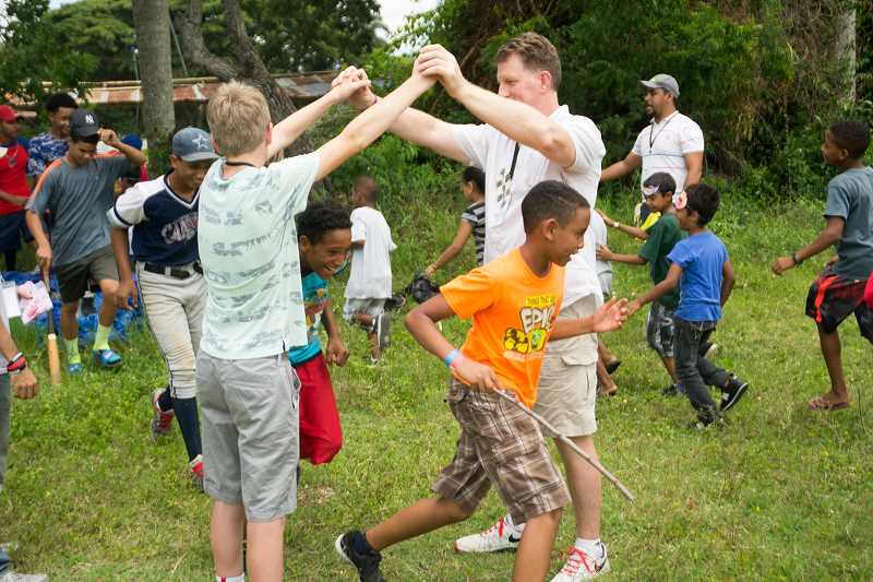 SUBMITTED PHOTO - Kids participate in a vacation bible school activity.