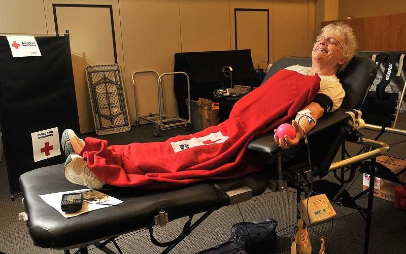 Blood cannot be manufactured — it can only come from donors. Carrie Brunner says if her donations can help a child or an accident victim, she is happy to do it.