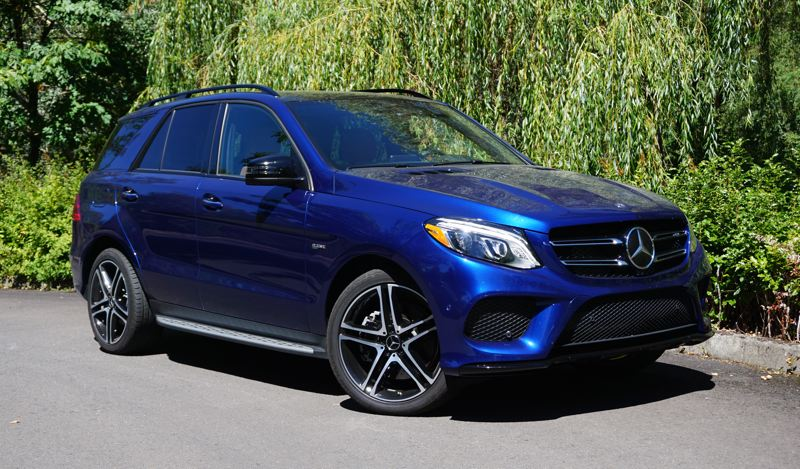 PORTLAND TRIBUNE: JEFF ZURSCHMEIDE - The 2017 Mercedes-Benz AMG GLE43 is a midsize SUV with a twin-turbo V6 engine good for 362 horsepower and 384 pound-feet of torque. That's good enough for a 5.6-second sprint from a standing stop to 60 miles per hour.