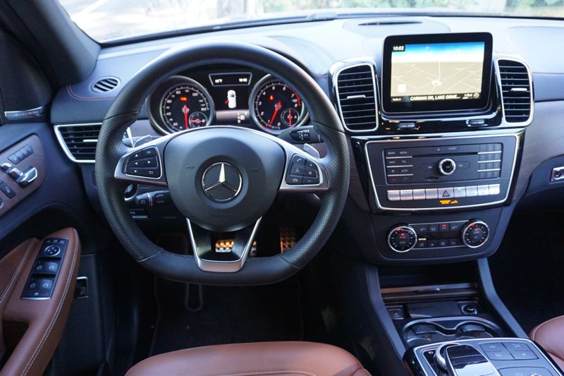 PORTLAND TRIBUNE: JEFF ZURCHMEIDE - nside the AMG GLE, you'll enjoy every luxury feature that Mercedes offers, including well-made leather upholstery, available in an attractive saddle brown color, and a panoramic sunroof. You get Mercedes navigation and a surround-view camera system. The infotainment system supports Android Auto and Apple CarPlay, and you get USB, aux jack, Bluetooth inputs, and satellite radio.