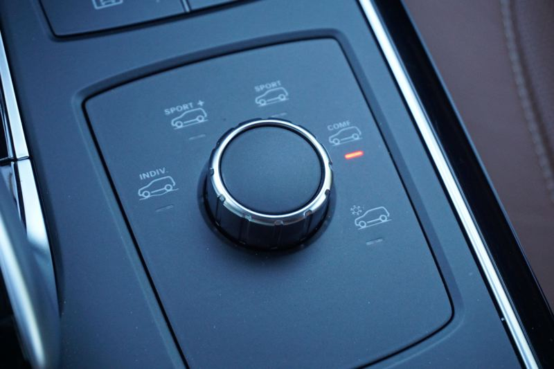 PORTLAND TRIBUNE: JEFF ZURSCHMEIDE - The AMG GLE features AMG Dynamic Select driving modes for Comfort, Sport, Sport+, and Snow conditions. Twisting the dial up to Sport or Sport+ sharpens up throttle response, shifting, suspension, steering, and braking.