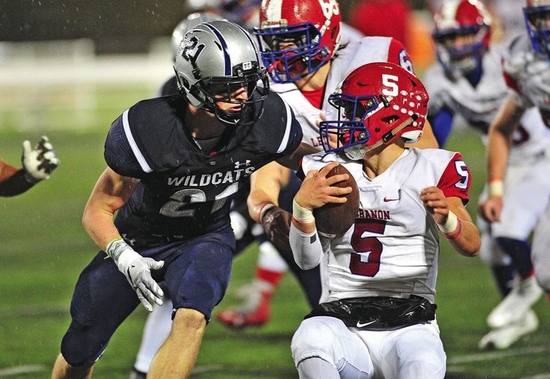 SPOKESMAN FILE PHOTO - Wilsonville junior lineman Carson Hull is back to lead a talented quartet of returners, along with Draco Bynum, A.J. Burkhead and Caleb Baker.