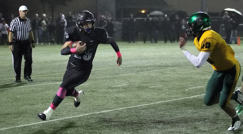 TIDINGS FILE PHOTO - Tigard senior Braden Lenzy (left) is one of the top returning backs in the Three Rivers League, and his Tigers are again expected to challenge for the league title.