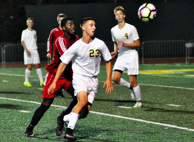 TIDINGS FILE PHOTO - West Linn junior defender Adam Beyer and the Lions will be back to chase after the Three Rivers League title in the coming 2017 season.