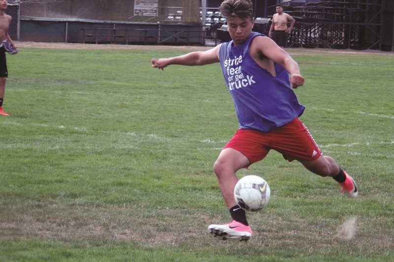 PHIL HAWKINS - Returning junior All-State forward Edgar Lopez leads the Huskies' offensive attack this season after leading the team with 23 goals in 2016.
