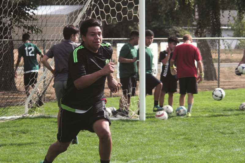 PHIL HAWKINS - Senior newcomer Ronaldo Ortiz joins the Huskies after transferring from Woodburn High School and will be a fixture along the back line as one of North Marion's primary defenders.