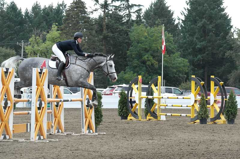SPOKESMAN FILE PHOTO - The final jumping event of the season at Hunter Creek Equestrian Par is Aug. 30. The event is free and open to the public.