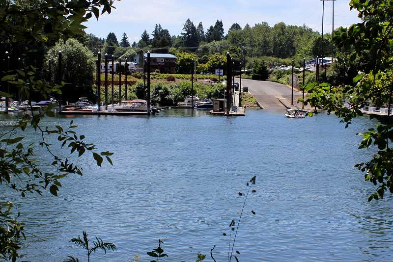 SPOKESMAN PHOTO: LESLILE PUGMIRE HOLE - Boones Ferry Park is the location of the old Boones Ferry, which crossed the river at the end of Boones Ferry Road.
