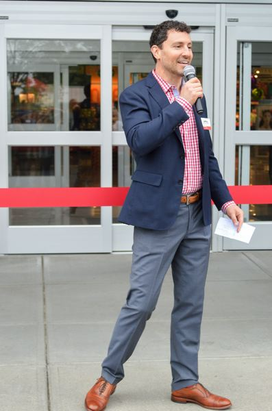 POST PHOTO: CLARA HOWELL - Jeffery Temple, director of corporate affairs at Fred Meyer, gave a speech before the grand opening of a remodeled Fred Meyer.