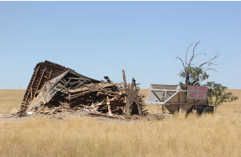 SUSAN MATHENY/MADRAS PIONEER - The old homestead , located near SolarTown, was demolished.