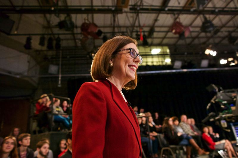 PAMPLIN MEDIA GROUP FILE PHOTO  - Gov. Kate Brown is one of only four governors who are women in America — and Oregon's numbers for women in politics are on the up.