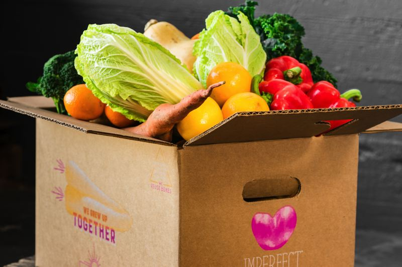 COURTESY: IMPERFECT PRODUCE - Imperfect Produce is now delivering boxes of blemished, scarred or otherwise ugly produce to home customers in the Portland area.