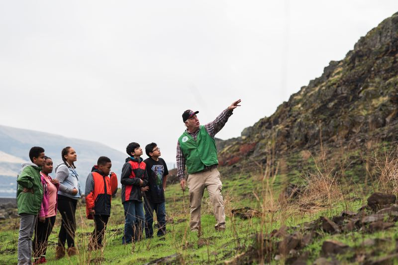 COURTESY: NICK WILTGEN - Portland middle schoolers learn about the gorge at the Great Gorge Wahoo! It's one of two outdoor education programs led by Friends of the Columbia Gorge.
