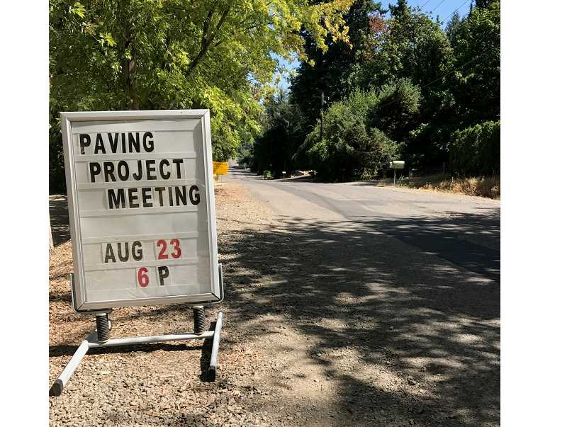 TIDINGS PHOTO: PATRICK MALEE - Residents at the Aug. 23 town hall meeting expressed concerns with the prospect of Kenthorpe Way being entirely closed during portions of an upcoming paving project.