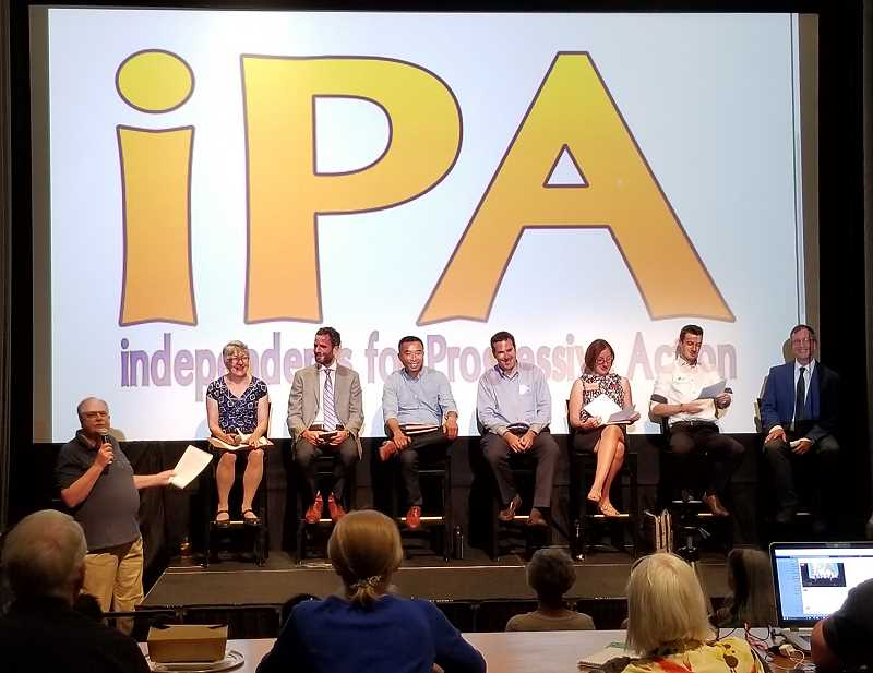 REVIEW PHOTO: ANTHONY MACUK - Independents for Progressive Action held its own candidate forum Aug. 10, citing what it saw as a lack of party-sponsored opportunities for PCPs and the public to hear from candidates.