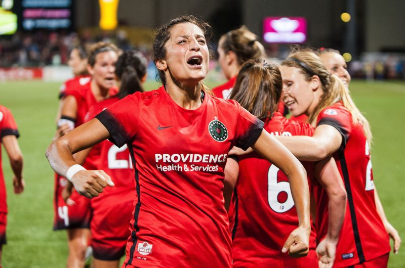 TRIBUNE FILE PHOTO: DIEGO G. DIAZ - Portland Thorns forward Nadia Nadim gained her passion for soccer playing with other refugees in Denmark.