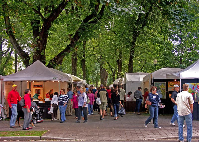 COURTESY: ART IN THE PEARL - Organizers expect up to 100,000 visitors in the North Park Blocks area for the 21st annual Art in the Pearl event, which features 130 artists and their work.