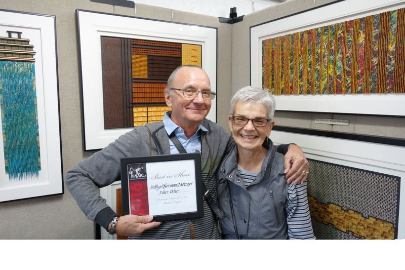 COURTESY: ART IN THE PEARL - Hetty and Norman Metzger won best of show in 2016.