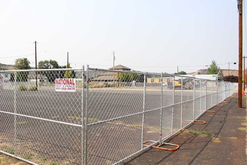 JASON CHANEY - A large section of land is fenced off where the new Crook County Jail will eventually get built. According to Crook County Sheriff John Gautney, utility work will continue this month with foundation work set to start by early October.