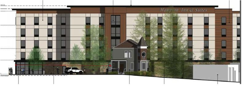 PHOTO COURTESY: CITY OF OC - Hampton Inn & Suites is planning a 99-room, five-story hotel, at 1737 Washington St., Oregon City.