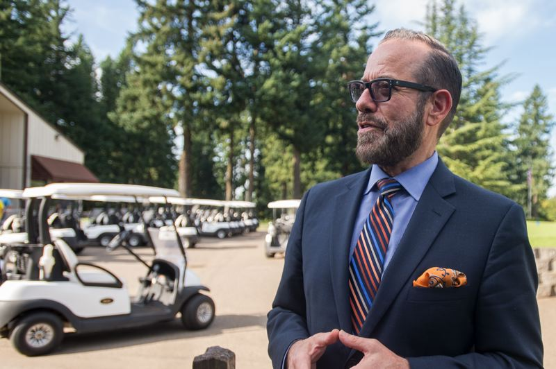 OUTLOOK PHOTO: JOSH KULLA - Bruce Porter, Director of Operations for the RingSide Hospitality Group, discusses the future of 38-year-old restaurant, which will host another tenant in the future.
