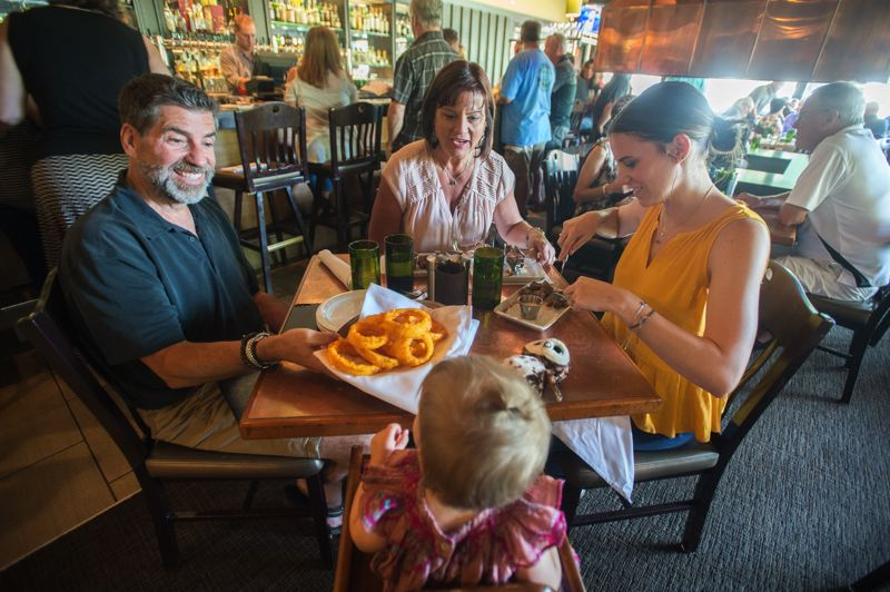 FILE PHOTO - East Portland's venerable RingSide Grill was slammed with customers Wednesday evening, it's last day of operation at Glendoveer Golf Course at Northeast 140th and Division Street.