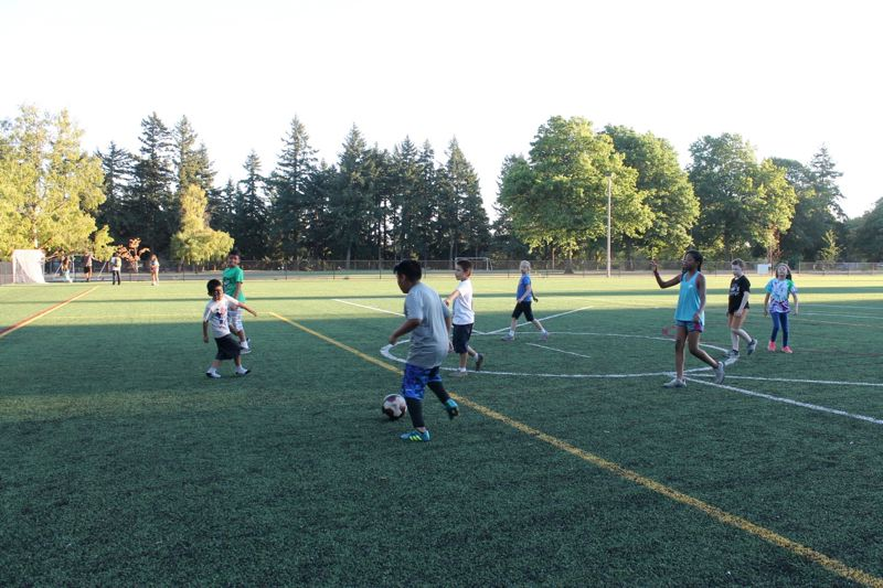 Pamplin Media Group Soccer field opens at Lents Park playground