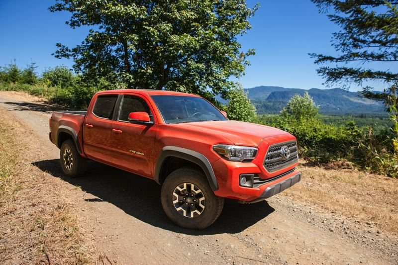 COURTESY TOYOTA - The 2017 Toyota Tacoma TRD Off-Road is designed to do what the name says: Go off-road, thanks to its Toyota Racing Development all-wheel-drive enhanced system. But it's also very civilized in town.