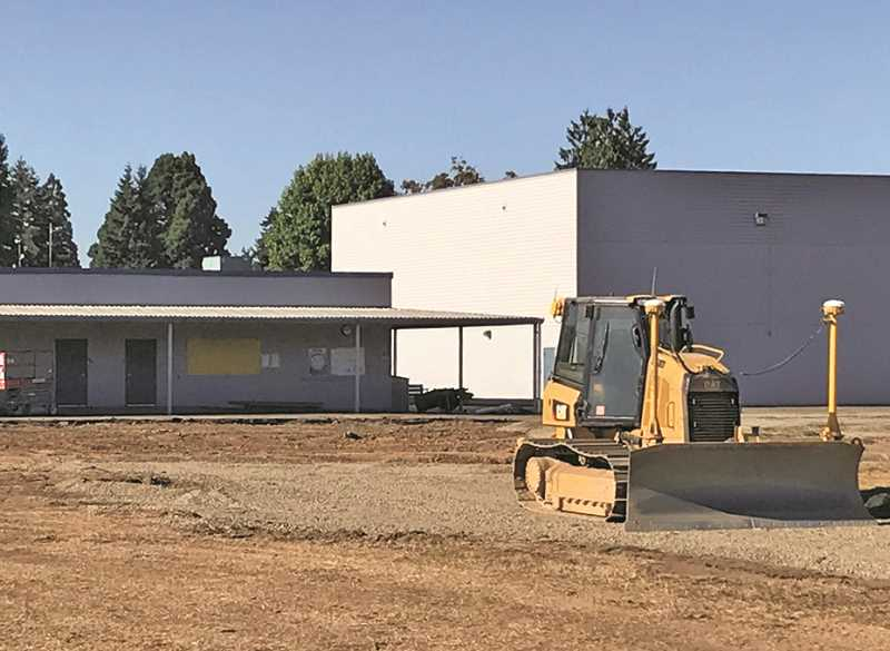 COURTESY PHOTO: WOODBURN SCHOOL DISTRICT - Work at Washington Elementary School progressed this summer. Projects like increasing the number of classrooms at the school will be prioritized in the face of rising construction costs.