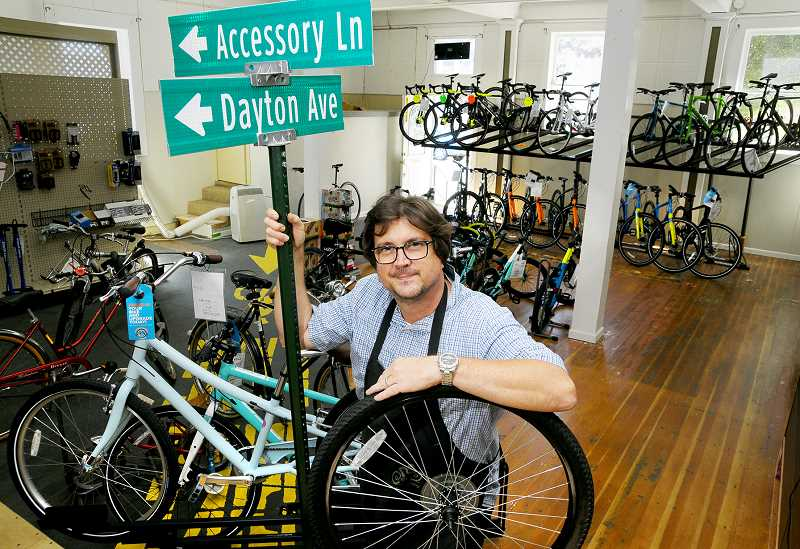 GARY ALLEN - David Strickland recently opened OSCyclery near Second and Howard streets. It is the second shop he owns in the area, the first being in Orenco Station near Hillsboro.
