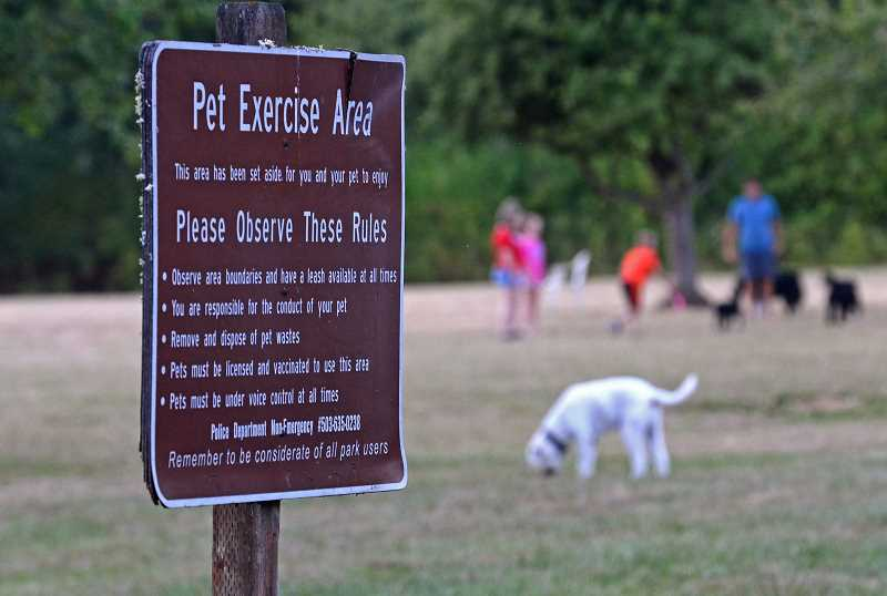 TIDINGS PHOTO: VERN UYETAKE - Mary S. Young Park has a designated off-leash area, but police are frequently called about dogs running about on trails and in other areas.
