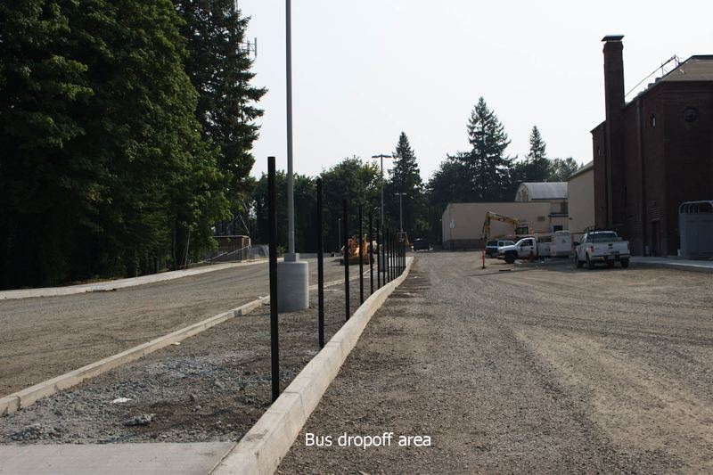 CONTRIBUTED PHOTO: OREGON TRAIL SCHOOL DISTRICT - Renovation of the Pioneer building prompted the district to create a new drop-off area for students.