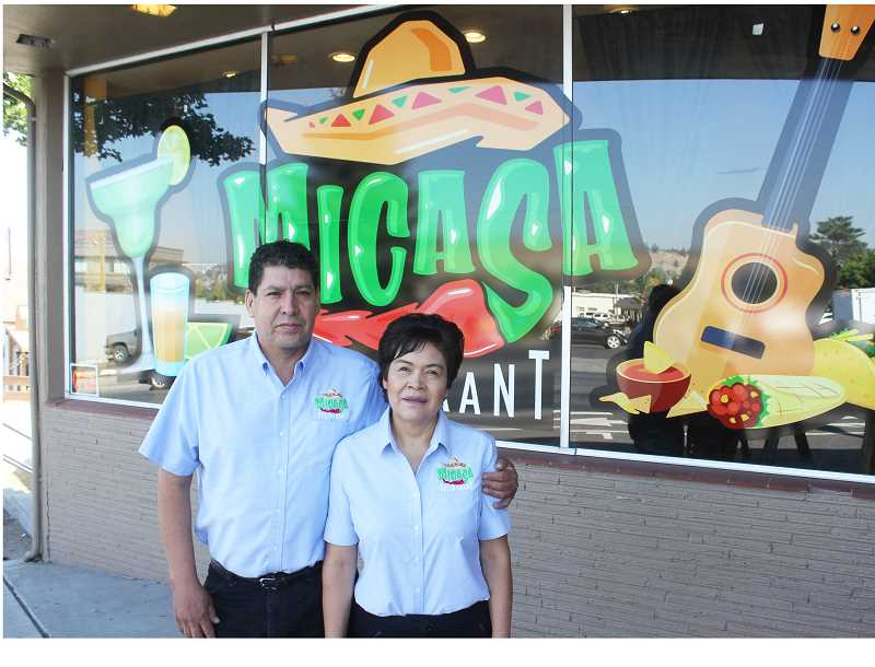 SUSAN MATHENY/MADRAS PIONEER - Andres and Maria Escalante have moved their restaurant to a better location on Fifth Street.