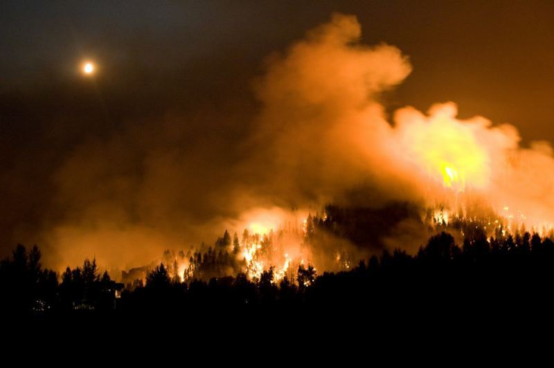 COURTESY PHOTO: U.S. FOREST SERVICE - The Rim Fire has grown to 250 acres overnight.