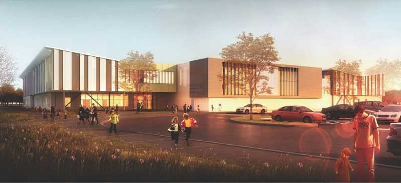 COURTESY: BEAVERTON SCHOOL DISTRICT - A rendering of what the new Hazeldale Elementary School building will look like upon completion of construction. The Beaverton School District will hold a groundbreaking ceremony for the school on Saturday, Sept. 23.