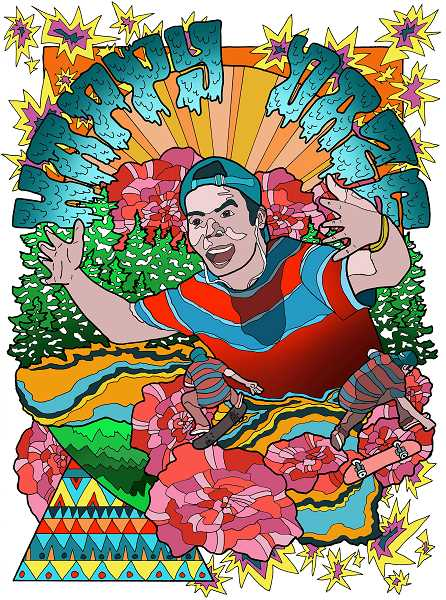 SUBMITTED ART: JOSH GROSS - 'Happy Daze,' a digital work, is one example of the cheery style of artist Josh Gross.