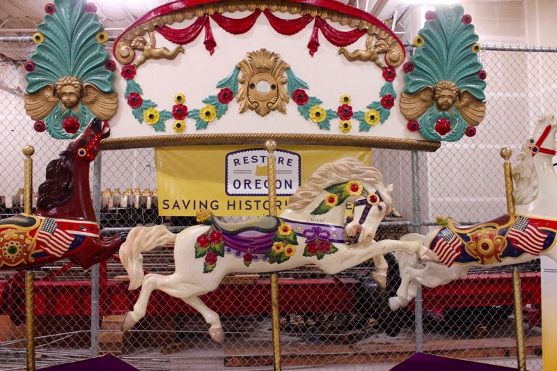 PAMPLIN MEDIA GROUP: LYNDSEY HEWITT - Restore Oregon announced Thursday, Sept. 7, that it had acquired the jantzen Beach Carousel . It plans to rebuild the ride and find a new home and a new owner for the historic attraction.