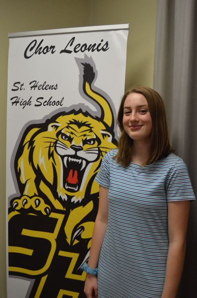 SPOTLIGHT PHOTO: NICOLE THILL - Hayden Weitzel, a junior at St. Helens High School, was selected to particpate in a national honor choir in November. During the school year, Weitzel also takes part in the high school's intermediate ensemble, Chor Leonis.