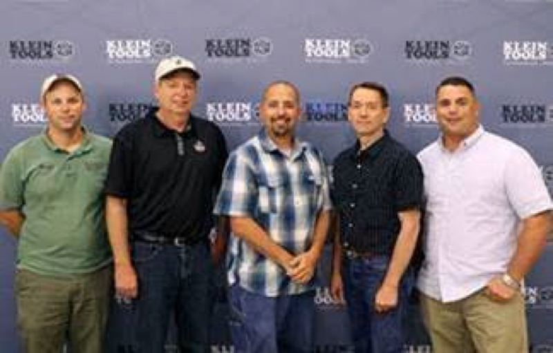 COURTESY PHOTO - Forest Grove resident Brent Heesacker (second from right) was among Illinois-based Klein Tools' Electrician of the Year regional winners who met in Texas last month to tour the company's manufacturing facilities. Heesacker is in the running for Region 1 (Northwest).