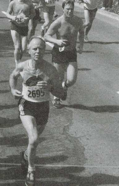 COURTESY OF GRANT VALENTINE - Grant Valentine finishes the 15K Cascade Runoff in Portland, Ore., on June 24, 1984.