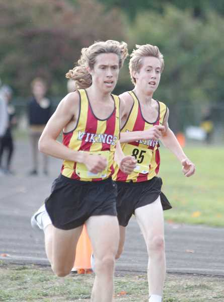 NEWS-TIMES PHOTO: WADE EVANSON - Forest Grove's Max and Quincy Norman will be key contributors to the Viking cross country team this season.